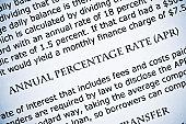 Macro shot of term : Annual percentage rate - APR