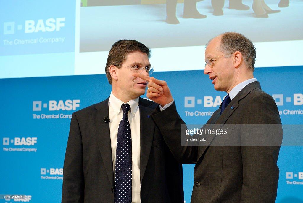 Annual press conference of BASF SE Kurt BOCK CEO and CFO HansUlrich ENGEL
