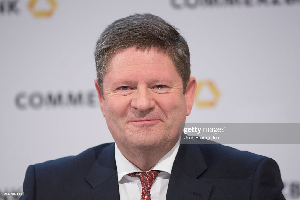 Annual press conference of Commerzbank AG. Stephan Engels, Chief Financel Officer (CFO) of Commerzbank AG, during the press conference.