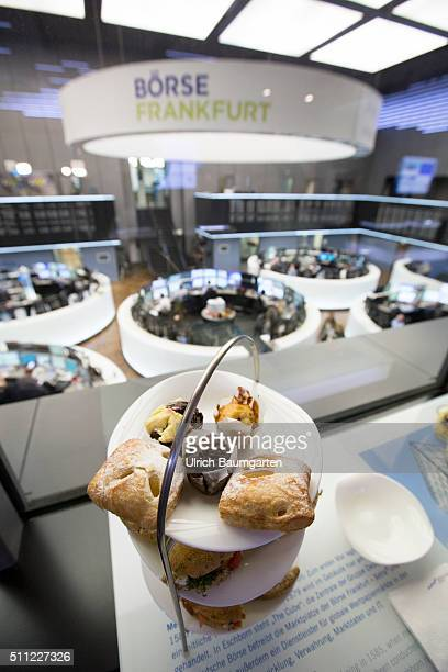 Annual Press Conference of Deutsche Börse Group Snack for the journalists in the trading hall of the stock exchange
