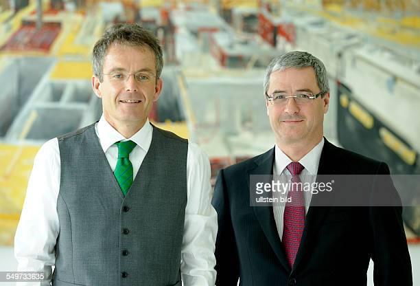 Annual press conference of HeidelbergCement AG Bernd SCHEIFELE CEO and Lorenz NAEGER CFO