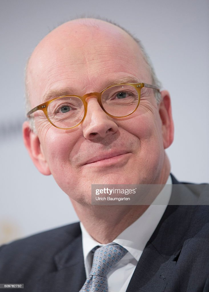 Annual press Conference of the Commerzbank AG. Martin Blessing, Chief Executive Officer (CEO) of Commerzbank AG, during the press conference.