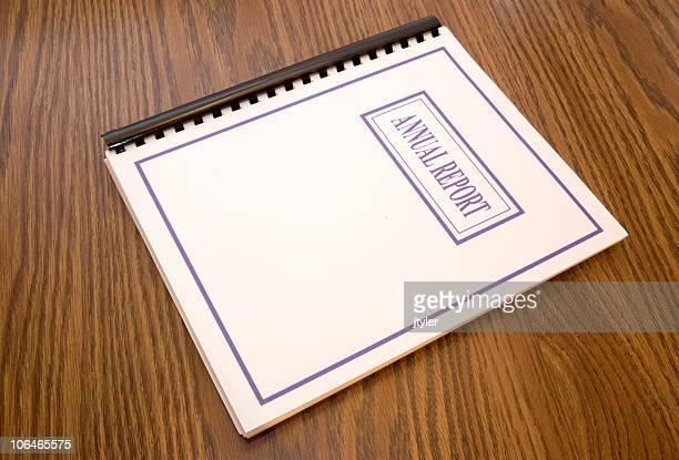 Annual Report on a Desk