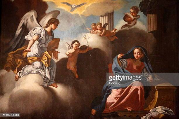 Annunciation painting in Santa Croce church