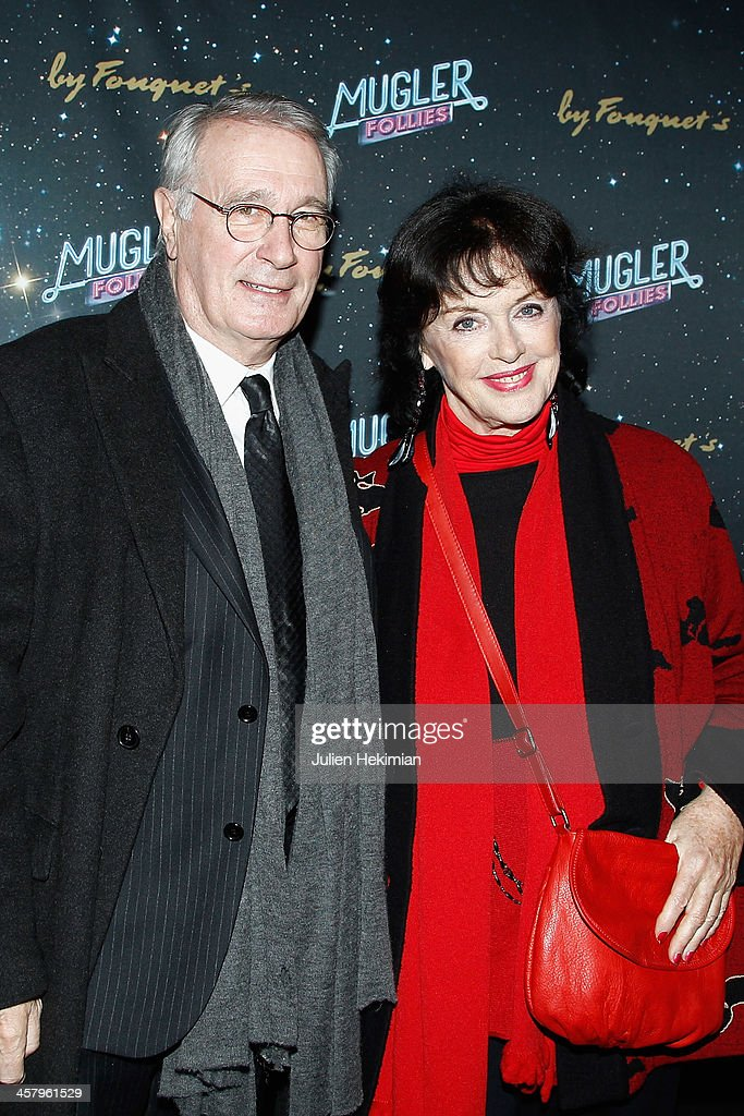 Anny Duperey and her husband attend 'Mugler Follies' Paris New Variety Show - Premiere on December 19, 2013 in Paris, France.