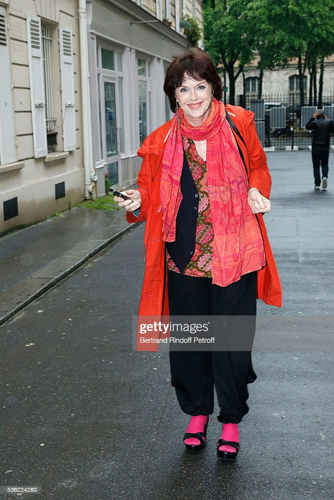 Anny Duperey attends 'L'oiseau Bleu' at Theatre Hebertot on May 31, 2016 in Paris, France.