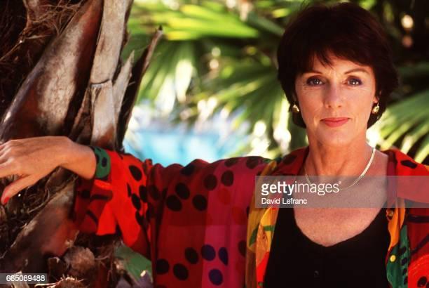 Anny Duperey en rendezvous photo pendant le tournage de la série 'Marseille' réalisée par Didier Albert