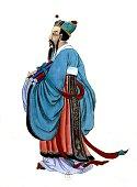 Anonymous Portrait of Confucius 17th century China Paris Bibliothèque nationale