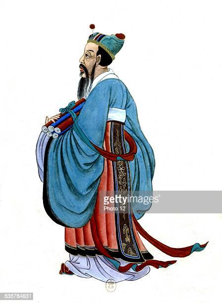 Anonymous Portrait of Confucius 17th century China Paris Bibliothèque nationale