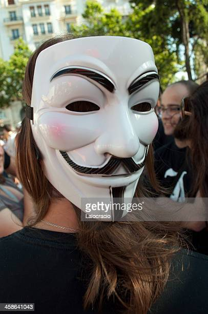Anonymous protester