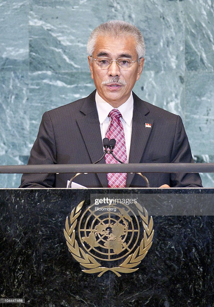 <a gi-track='captionPersonalityLinkClicked' href=/galleries/search?phrase=Anote+Tong&family=editorial&specificpeople=626128 ng-click='$event.stopPropagation()'>Anote Tong</a>, president of Kiribati, speaks during the 65th annual United Nations General Assembly at the UN in New York, U.S., on Saturday, Sept. 25, 2010. The General Debate portion of the General Assembly runs until Sept. 29. Photographer: Andrew Harrer/Bloomberg via Getty Images