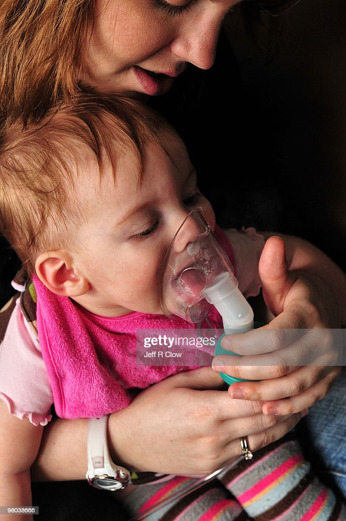 Another Breathing Treatment : Stock Photo