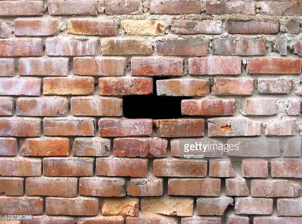 Un autre pas dans le mur de briques