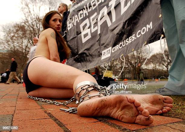 Another brilliantly planned photoop by PETA who have become well known for staging events with either scantly dressed girls or in this case topless...