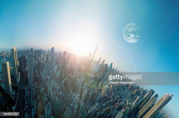 Another Earth above the city