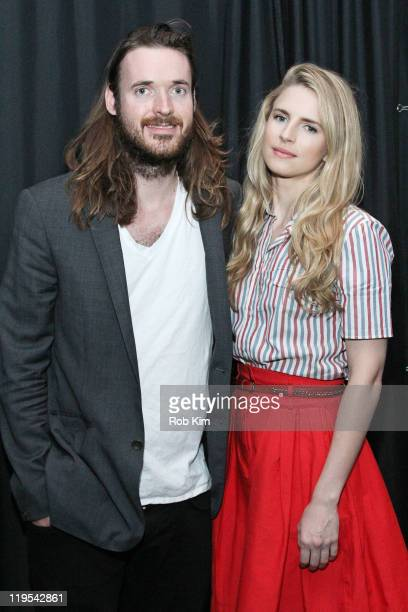 'Another Earth' filmmakers Mike Cahill and Brit Marling visit the Apple Store Soho on July 21 2011 in New York City