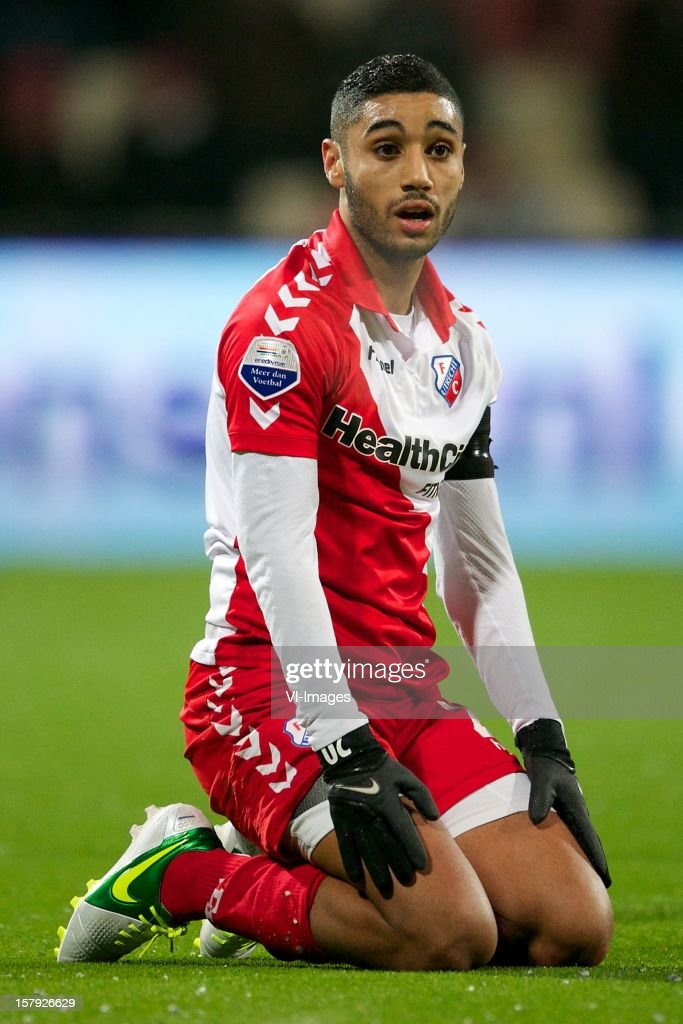 Anouar Kali of FC Utrecht during the Dutch Eredivisie match between Heracles Almelo and FC Utrecht at the Polman Stadium on December 7, 2012 in Almelo, The Netherlands.