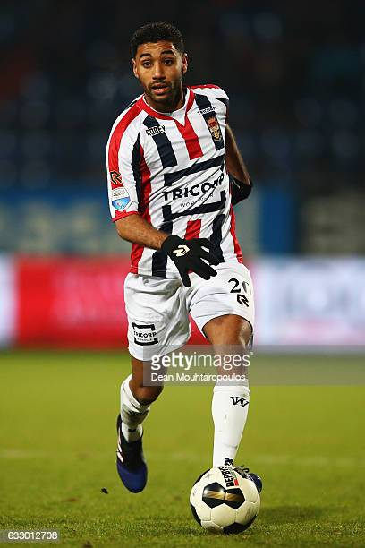 Anouar Kali of Willem II in action during the Dutch Eredivisie match between Willem II Tilburg held at Koning Willem II Stadium on January 27 2017 in...