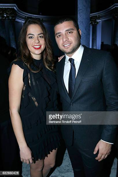 Anouchka Delon and Elie Saab Jr attend the Elie Saab Haute Couture Spring Summer 2017 show as part of Paris Fashion Week on January 25 2017 in Paris...