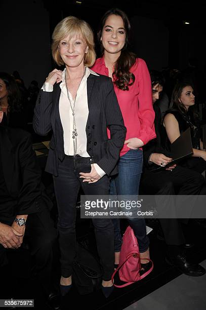 Anouchka Delon and Elisa Servier attend Elie Saab Spring/Summer 2013 HauteCouture show as part of Paris Fashion Week at Pavillon Cambon in Paris
