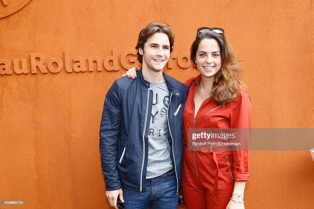 Anouchka Delon and her boyfriend Julien Dereins attend the French Tennis Open Day 6 at Roland Garros on May 27, 2016 in Paris, France.