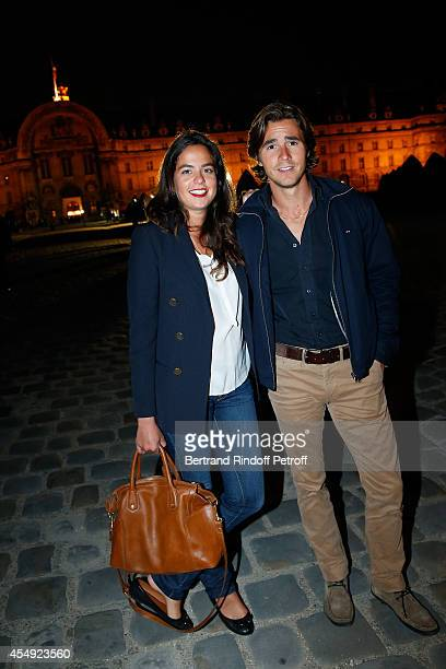 Anouchka Delon and her companion Julien Dereins attend the 'Claude Lelouch en Musique Held at the Invalides in Paris on September 6 2014 in Paris...