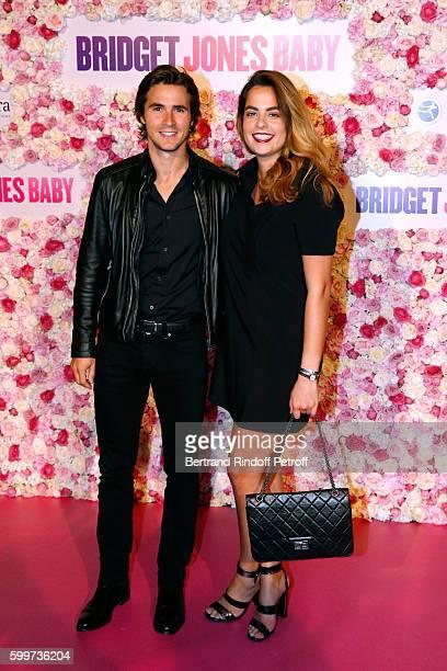 Anouchka Delon and her companion Julien Dereins attend the 'Bridget Jones Baby' Paris Premiere Held at Cinema Le Grand Rex on September 6 2016 in...