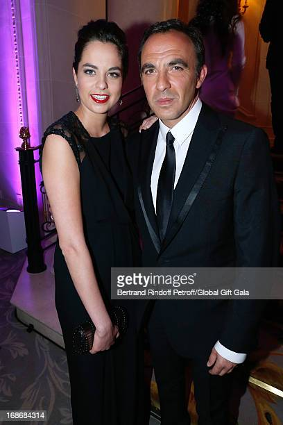 Anouchka Delon and Nikos Aliagas attend 'Global Gift Gala' at Hotel George V on May 13 2013 in Paris France
