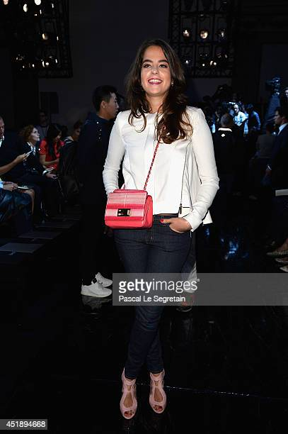 Anouchka Delon attends the Elie Saab show as part of Paris Fashion Week Haute Couture Fall/Winter 20142015 at Pavillon Cambon Capucines on July 9...