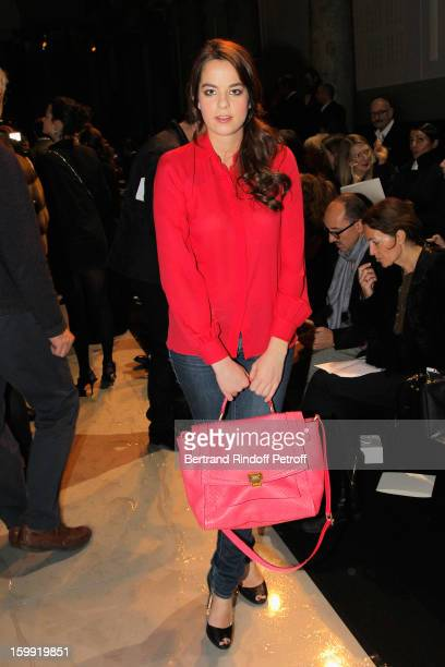 Anouchka Delon attends the Elie Saab Spring/Summer 2013 HauteCouture show as part of Paris Fashion Week at Pavillon Cambon Capucines on January 23...