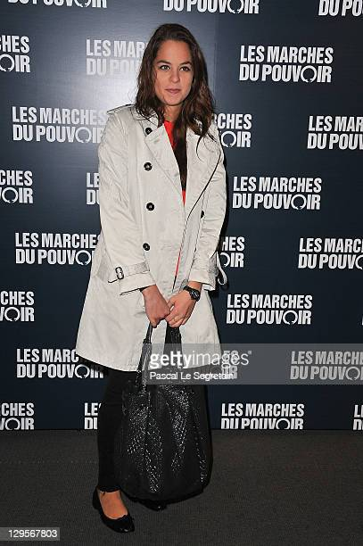 Anouchka Delon attends 'The Ides of March'Paris Premiere at Cinema UGC Normandie on October 18 2011 in Paris France