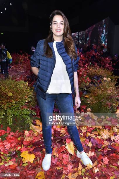 Anouchka Delon attends the Moncler Gamme Rouge show as part of the Paris Fashion Week Womenswear Fall/Winter 2017/2018 on March 7 2017 in Paris France