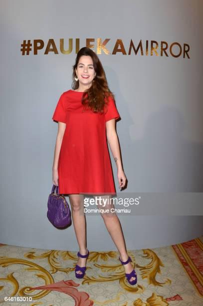Anouchka Delon attends the Paule Ka Presentation as part of the Paris Fashion Week Womenswear Fall/Winter 2017/2018 at Hotel Intercontinental on...