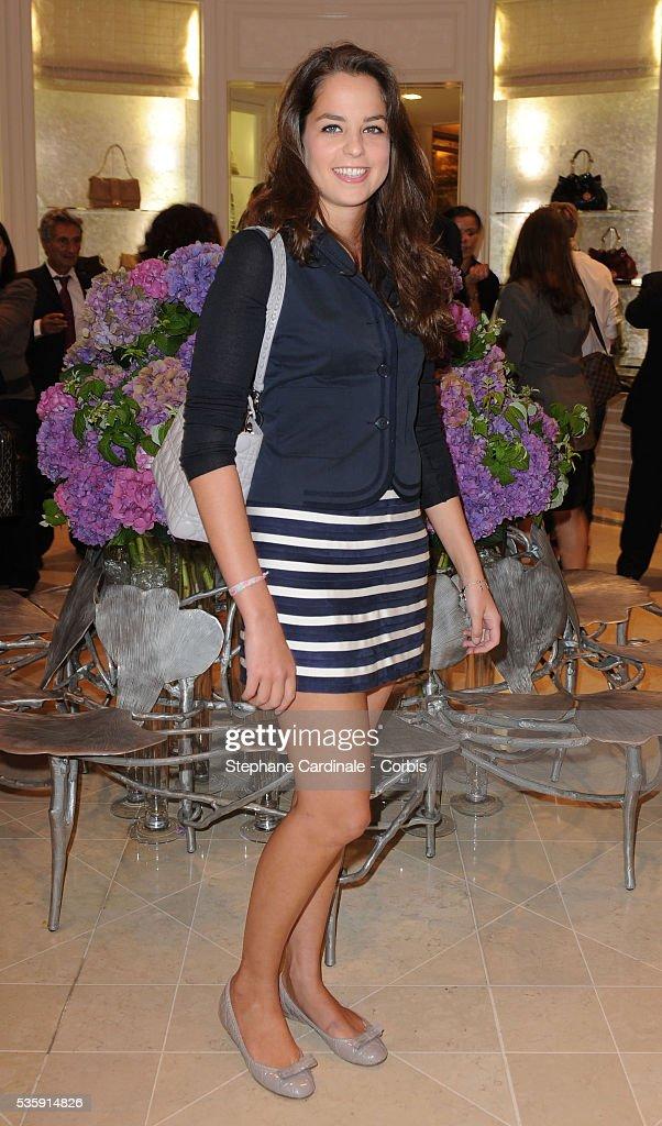 Anouchka Delon attends the Vogue Fashion Celebration Night at Christian Dior in Paris.