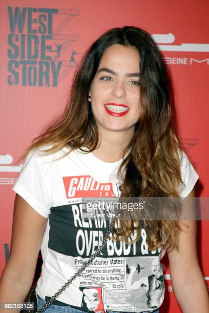 Anouchka Delon attends 'West Side Story' at La Seine Musicale on October 16 2017 in BoulogneBillancourt France