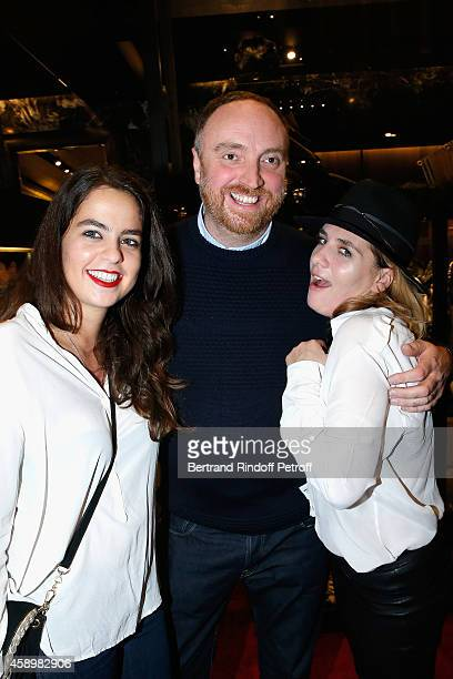 Anouchka Delon Dan Holdsworth and MarieAmelie Seigner attend a cocktail party hosted by Moncler Paris in honor of the new Moncler Blackout Collection...