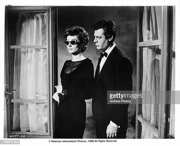 Anouk Aimee and Marcello Mastroianni enter room in a scene from the film 'La Dolce Vita' 1960