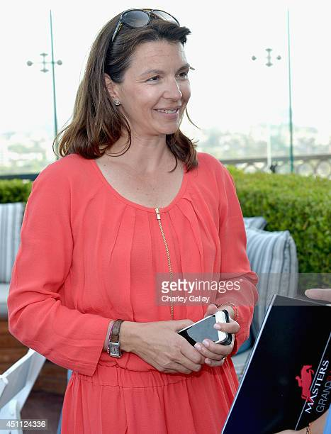 Anouk Blain Maillot attends Longines Los Angeles Masters Cocktail Reception at The London Hotel on June 23 2014 in West Hollywood California