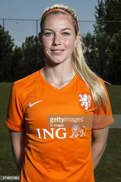 Anouk Hoogendijk during the team presentation of the Netherlands women for the FIFA Women's World Cup Canada 2015 on May 24 2015 at Sassenheim The...