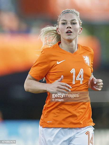 Anouk Hoogendijk of Holland during the International friendly match prior to the FIFA Women's World Cup Canada 2015 between Netherlands women and...