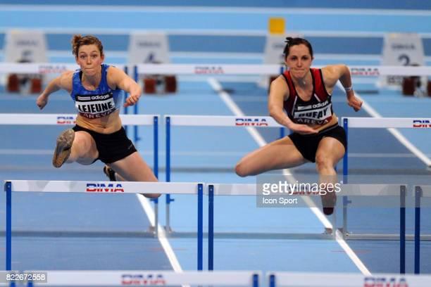 Anouk LEJEUNE 60 metres haies pentathlon Championnat de France en salle Bercy Paris