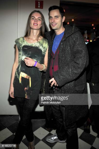 Anouk Lepere and Andrew Cramer attend THE PURPLE Fashion Magazine After Party at Gramercy Park Hotel on February 14 2010 in New York City
