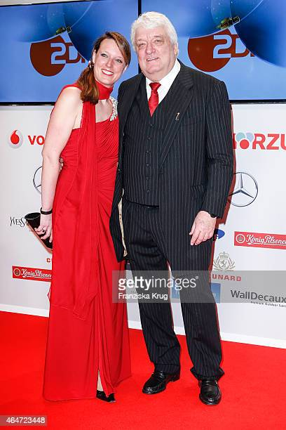 Anouk Meiser and her father Hans Meiser attend the Goldene Kamera 2015 on February 27 2015 in Hamburg Germany