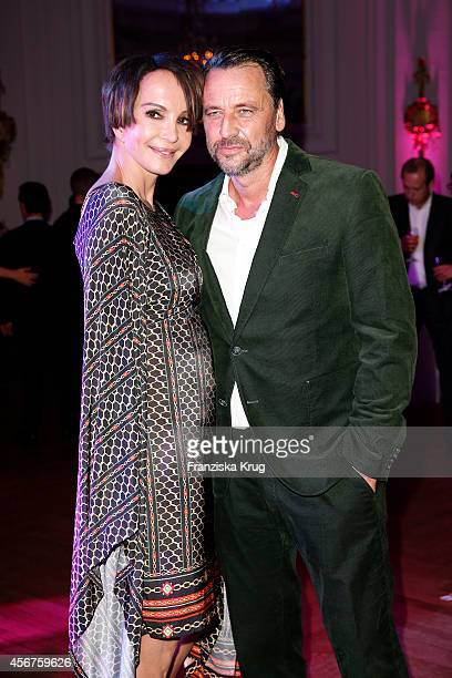 Anouschka Renzi and Carsten Sander attend the Media Entertainment Night 2014 at Atlantik Hotel on October 06 2014 in Hamburg Germany