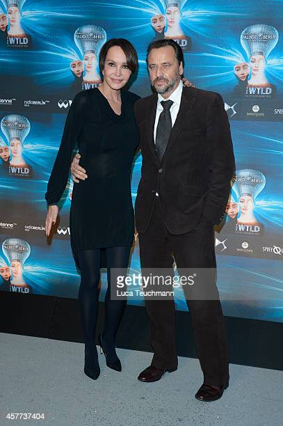 Anouschka Renzi and Carsten Sander attends 'The Wyld Nicht von dieser Welt' Premiere at FriedrichstadtPalast on October 23 2014 in Berlin Germany