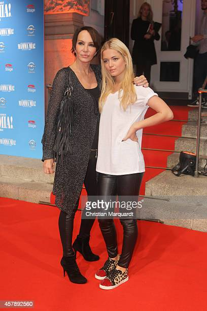 Anouschka Renzi and daughter Kiara attends the 'Mamma Mia' Musical Premiere on October 26 2014 in Berlin Germany