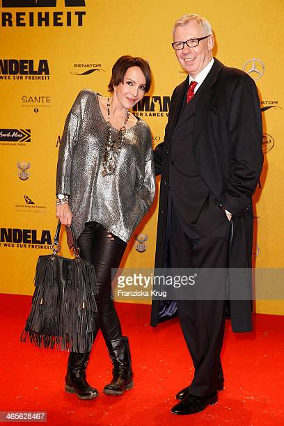 Anouschka Renzi and Ludger Pistor attend the premiere of the film 'Mandela Long Walk to Freedom' at Zoo Palast on January 28 2014 in Berlin Germany