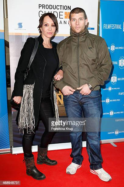 Anouschka Renzi and Tarek Ehlail attend the Saarland Film Reception during 64th Berlinale International Film Festival at Saarland Landesvertretung on...