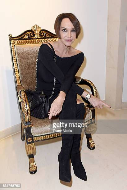 Anouschka Renzi attends the 30th Anniversary of Designer Harald Gloeoecklers Label Pompoeoes on January 15 2017 in Berlin Germany