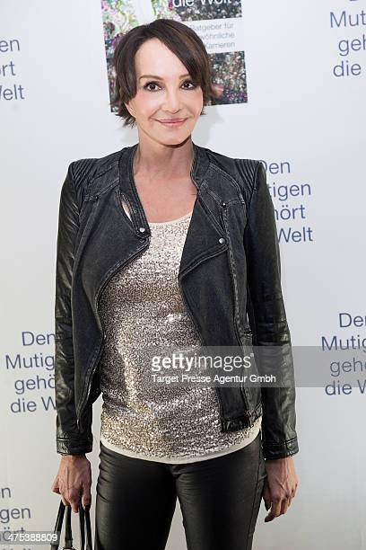 Anouschka Renzi attends the book presentation of Jens Hilbert at Soho House on February 27 2014 in Berlin Germany